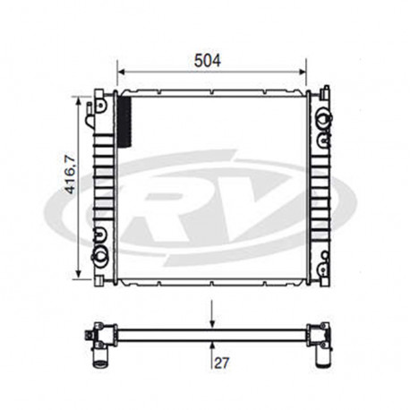 Radiador- Ford Ranger 2.5/2.8 - Oem: Xl5h.8005.aa