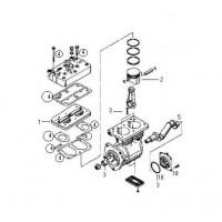Tapa Completa Para Compresor ø88 Mm-600 Cc Lk4941-k016615000/Lp4965-k016615es/ Lp4964-k002046x00/ Lp4966-ii32689/ Lp4962-i