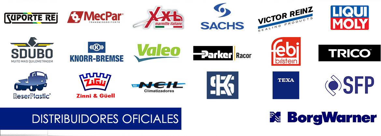 Somos distribuidores oficiales de estas marcas